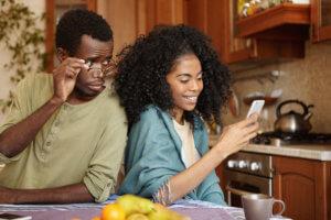 Jealousy about phone