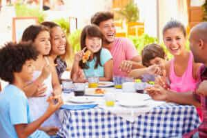 Families enjoying good boundaries